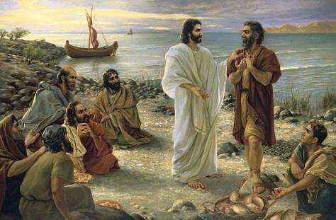 Jesus e os discípulos junto ao mar