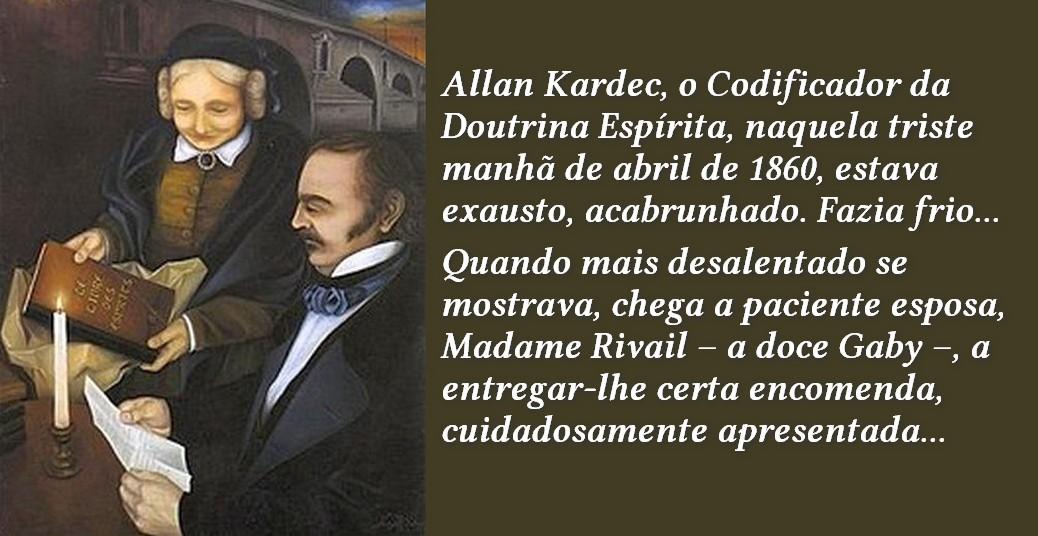 Allan Kardec e esposa Amalie Boudet