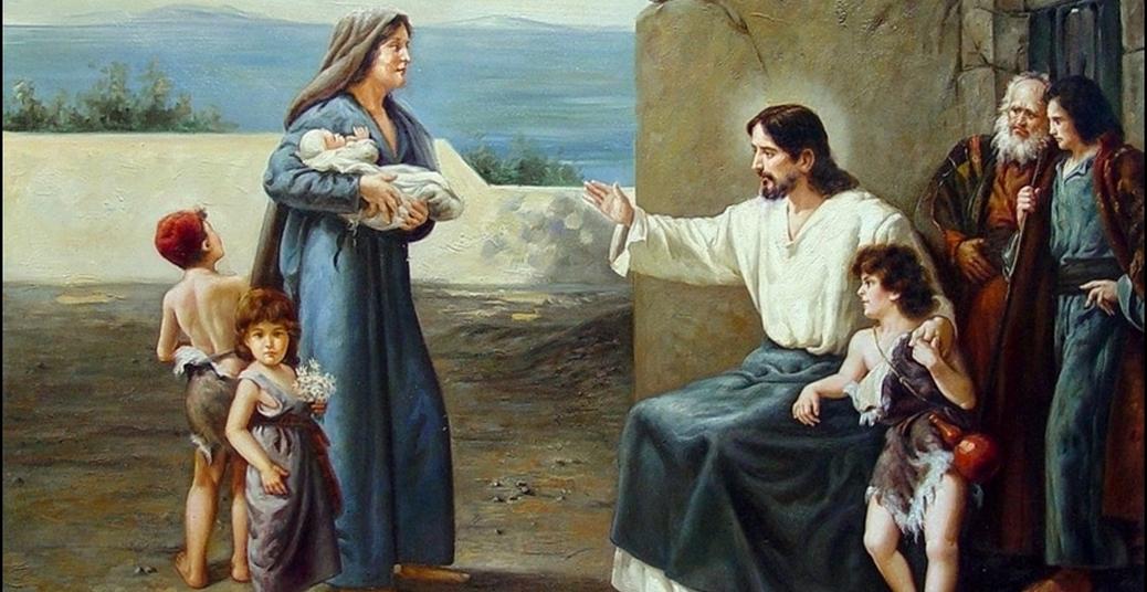 Jesus abençoa as crianças