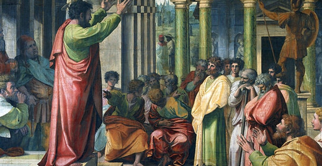 Paulo pregando em Atenas