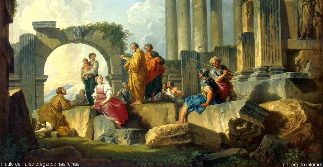 Paulo de Tarso pregando nas ruínas