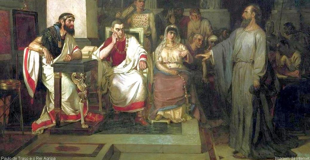 Paulo de Tarso prega ao Rei Agripa
