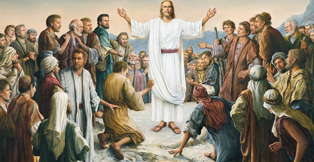 Jesus aparece a multidão