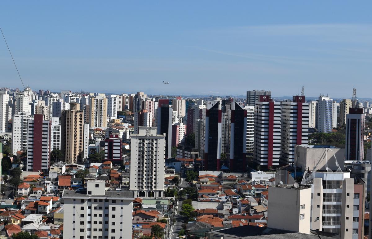 Vista aérea parcial de São Paulo