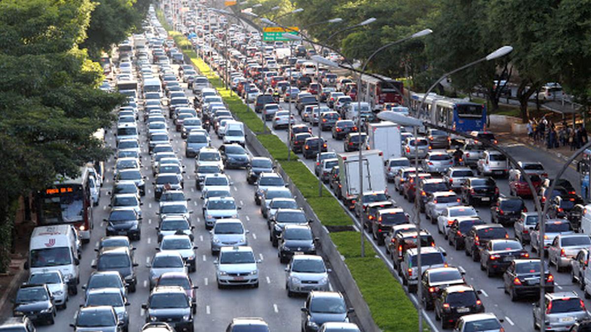 Trafego intenso em São Paulo