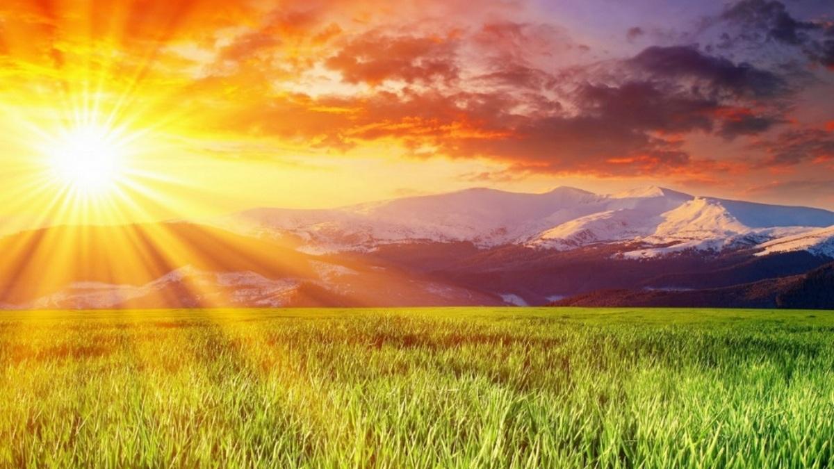 Sol iluminando a Terra