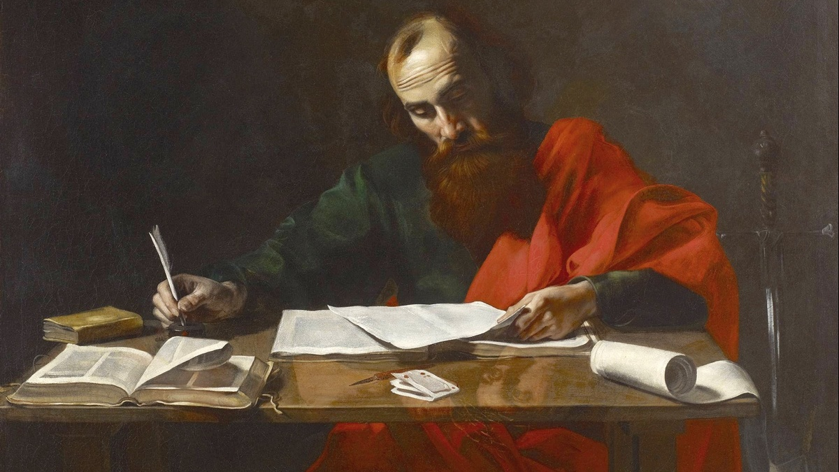 Paulo de Tarso escrevendo