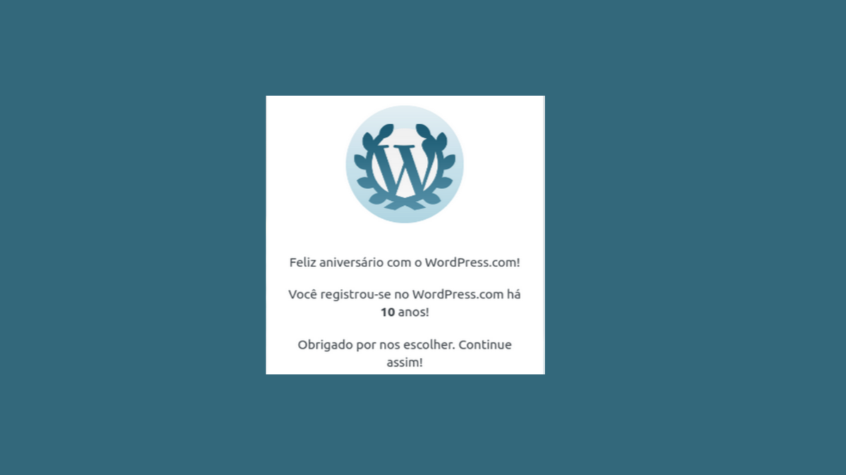 WordPress 10 anos